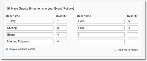 Add Potluck Functionality